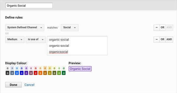 How to split Paid and Organic social traffic in Google Analytics
